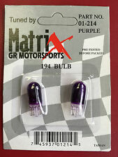 194 Bulb Purple Super Bright *Pre-Tested Before Packed* Matrix
