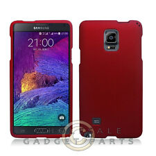 Samsung Galaxy Note 4 Shield Rubberized Red Cover Shell Protector Guard Shield