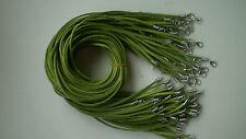 Wholesale Bulk lot 10pcs green Suede Leather String 50cm Necklace Cords