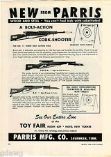 1960 ADVERT New Parris Trainerifles Kadet Target Toy Play Rifles Trainer Cork