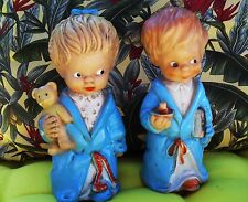 Squeaky squeak vintage toy rare Combex bedtime twins doll