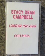 "STACY DEAN CAMPBELL""LONESOME WINS AGAIN"" 1992 STILL SEALED ADAVANCE PROMO OOP"