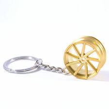 New Vossen Style Car Wheel Alloy Rim Metal Keyring Gift Keychain 9 spoke Gold