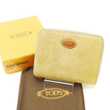 Auth TODS double fold Bill Compartment unisexused J6518