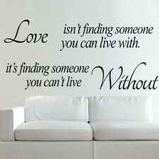 Latest Love Without Quote Wall Sticker Decal Mural Self Adhesive Paper Art