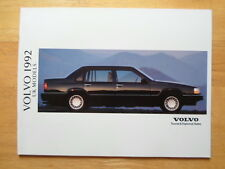 VOLVO Range 1992 UK Tourist & Diplomatic sales brochure -960 940 240 480 440 460