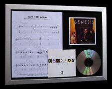 GENESIS Turn It On Again LTD QUALITY CD FRAMED DISPLAY+EXPRESS GLOBAL SHIPPING!!