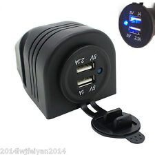 Dual USB Car Cigarette Lighter Socket Splitter 12V Charger Power Adapter Outlet