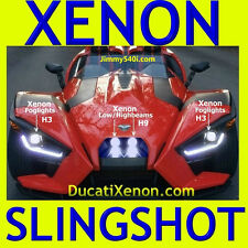 2 sets*XENON LIGHTS* POLARIS SLINGSHOT(Low/Highbeams H9 + Fog H3)DucatiXenon.com