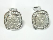 Christian Dior Silver Paved Crystal Pat2733491(1956) Design Clip On Earrings