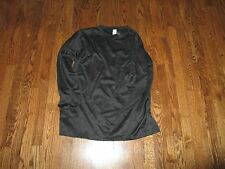undershirt cold weather,LS, mid weight top level 2,black , us made 100% poly XXL