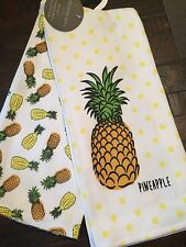 CYNTHIA ROWLEY SET OF 2 KITCHEN TOWELS PINEAPPLE NICE!