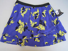 NEW VOLCOM FLOWEY MINI SKIRT DRESS Bikini CVRUP S PURPLE BLACK