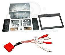 Porsche Boxster Gen1 Double Din Stereo Fitting Kit Black and Amplifier Adaptor