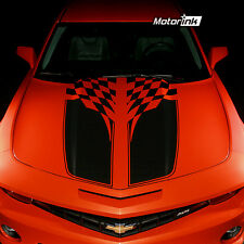 2010 2012 Chevrolet Camaro Checkered Flag Rally Stripes Decals Hood & Trunk 2013