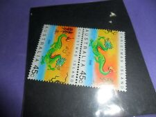 australia 2000 mint dragon stamp ( slight foxing @ back)