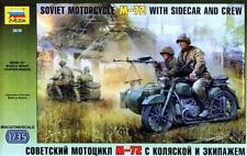 Zvezda 3639 Soviet Motorcycle M-72 with sidecar and crew 1/35 model kit
