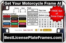 CUSTOM MOTORCYCLE PERSONALIZED LASER ENGRAVED LICENSE PLATE FRAME