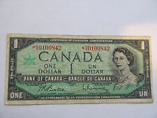 1967 Canada  dollar Bill Replacement note Low Serial # *N/O0100842