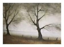 Bäume im Nebel Poster Kunstdruck Bild 32x44cm - Kostenloser Versand