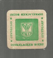 SOTTOBICCHIERE BEER COASTER MATS BIERDECKEL BIRRA 137 DINKELACKER BIERE