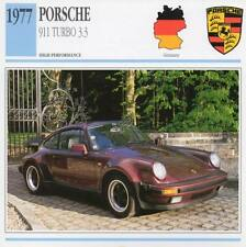 1977 PORSCHE 911 TURBO 3.3 Classic Car Photo/Info Maxi Card