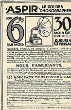 PHONOGRAPHE ASPIR ETS PHONOGRAPHIQUES D' IVRY PUBLICITE 1911