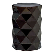 Black Diamond Handmade Porcelain Garden Stool