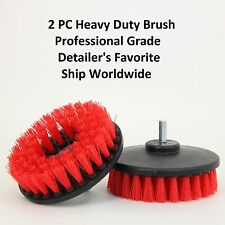 "Two Heavy Duty Scrubbing & Cleaning Brushes 5"" w/ Power Drill Attachment"