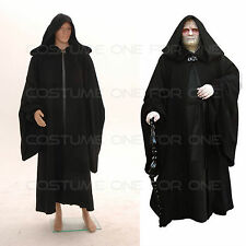Star Wars Darth Sidious Black Cosplay Costume Outfit *Custom Made*