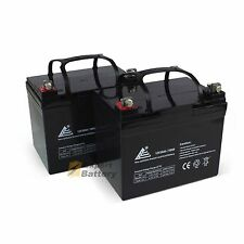 2 Pack - 12V 35Ah Deep Cycle AGM Solar Battery Also Replaces 33Ah 34Ah, 35Ah