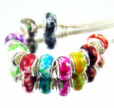 100 PCS mixed Beautiful Acrylic Camouflage Bead Fits European Bracelet KM19