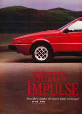 1983 Isuzu Impulse - Original Road Test Car Print Article J282
