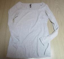 """""""Next Level Apparel"""" Womens Cotton/Poly Long Sleeve Shirt/top Soft Grey Size Med"""