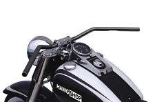 Lucas manillar flyerbar negro con Abe para Harley Davidson softail modelos