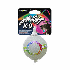 Nite Ize Meteorlight K9 LED Ball Disco Glowing Fetch Dog Toy Rubber Light-Up