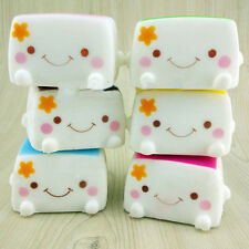 Hot Cute Soft Chinese Squishies Tofu Expression Smile Face toy RW