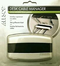 ALLSOP Desk Cable Tidy Wires Manager Desktop Organiser Compact 4 Cables Holder