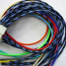 """6mm Expandable Braided PET 1/4"""" Cable Sleeving 3 weave High densely PC RC Mod"""