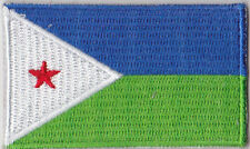 Djibouti Country Flag Embroidered Patch T4