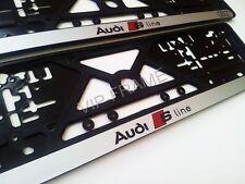 2x AUDI A6 A8 A5 S-LINE SPORT EXCLUSIVE KENNZEICHENHALTER NUMMERNSCHILD HALTER