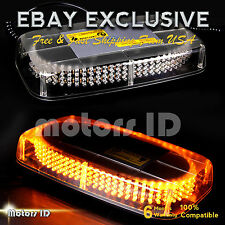 12V 240 LED Light Bar Roof Magnetic Emergency Hazard Warning Flash Strobe Amber