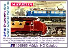 EE 1965/66 E US $ GD Marklin HO Catalog 1965 1966 Picture of 3070 Good Cond