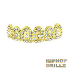 Chapado en Oro 24k Grillz Dientes Boca Bar Iced Parrillas Top Bling Hip Hop Rap
