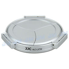 JJC SILVER SELF-RETAINING AUTO OPEN CLOSE LENS CAP FOR PANASONIC LUMIX DMC-LX7