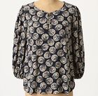 Maeve Confetti Ball Blouse Top Size 12 Blue Motif NW ANTHROPOLOGIE Tag