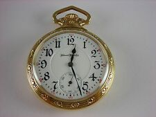 Antique Illinois 16s Sangamo Rail Road pocket watch. Beautiful case. 21 jewels