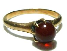 ART DECO CD PEACOCK 10K YELLOW GOLD CABOCHON CRYSTAL STONE RING SIZE 5.5