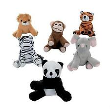 "12 ASSORTED STUFFED ANIMALS 5"" Zoo Jungle Safari Plush #AA69 Free Shipping"
