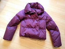 THEORY women fashion down winter insulated jacket KEILLY puffer purple L large